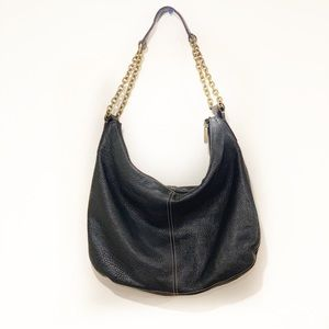 The Sak Large Black Pebbled Leather Hobo Bag